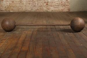 Skivstång med klotformade vikter